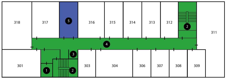 Kantoorruimte huren in Valkenswaard - vloerplan